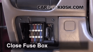 Interior Fuse Box Location: 19921996 Toyota Camry  1995