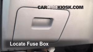 Interior Fuse Box Location: 19982001 Nissan Altima  2001 Nissan Altima GXE 24L 4 Cyl