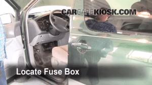 Interior Fuse Box Location: 19982003 Toyota Sienna  1999 Toyota Sienna LE 30L V6