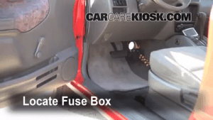 Interior Fuse Box Location: 19992005 Suzuki Grand Vitara