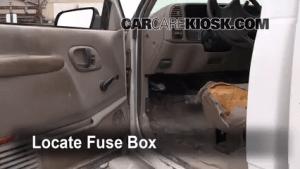 Interior Fuse Box Location: 19921999 Chevrolet C1500