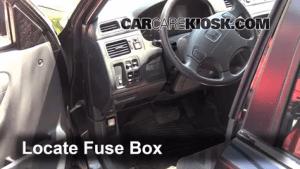 Interior Fuse Box Location: 19972001 Honda CRV  2000 Honda CRV EX 20L 4 Cyl