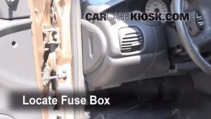Interior Fuse Box Location: 19951999 Dodge Neon  1995