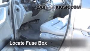 Interior Fuse Box Location: 19992004 Honda Odyssey  2002