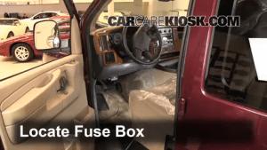 Interior Fuse Box Location: 19962014 GMC Savana 3500  2003 GMC Savana 3500 60L V8 Standard