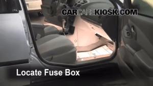Interior Fuse Box Location: 20042008 Chevrolet Malibu