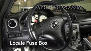 19901997 Mazda Miata Interior Fuse Check  1993 Mazda Miata 16L 4 Cyl