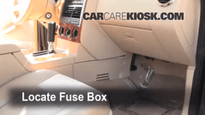 Interior Fuse Box Location: 20022010 Mercury Mountaineer  2005 Mercury Mountaineer Premier 4