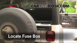 Interior Fuse Box Location: 19972006 Jeep Wrangler  2006