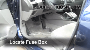 Interior Fuse Box Location: 20062011 Honda Civic  2009 Honda Civic Si 20L 4 Cyl Coupe (2 Door)