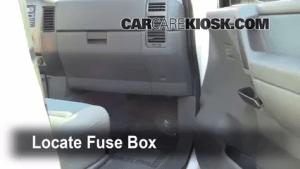 Interior Fuse Box Location: 20042015 Nissan Titan  2006 Nissan Titan SE 56L V8 Extended Cab