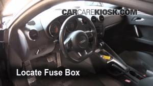 Interior Fuse Box Location: 20082015 Audi TT Quattro  2008 Audi TT Quattro 32L V6 Coupe