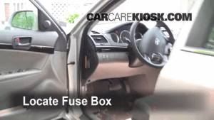 Interior Fuse Box Location: 20062010 Hyundai Sonata  2009 Hyundai Sonata GLS 24L 4 Cyl