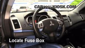 Interior Fuse Box Location: 20072013 Mitsubishi Outlander