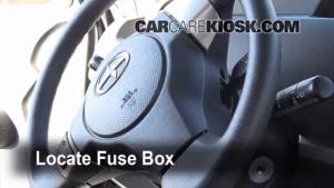 Interior Fuse Box Location: 20082015 Scion xB  2010