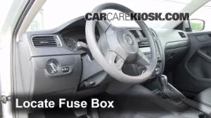 Interior Fuse Box Location: 20112016 Volkswagen Jetta  2011 Volkswagen Jetta SE 25L 5 Cyl Sedan