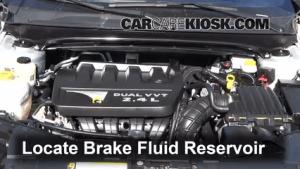 20082014 Dodge Avenger Brake Fluid Level Check  2010 Dodge Avenger SXT 24L 4 Cyl