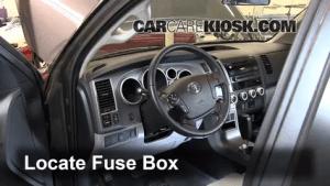 Interior Fuse Box Location: 20082016 Toyota Sequoia