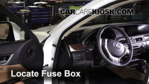 Interior Fuse Box Location: 20132016 Lexus GS350  2013 Lexus GS350 35L V6