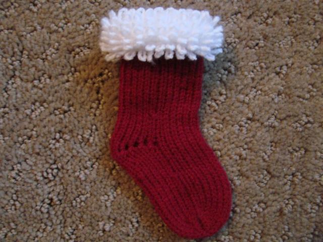Passap Miniature Christmas Stocking With Carpet Stitch