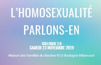 Colloque «L'homosexualité parlons-en»