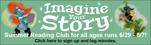 Click here to sign up for summer reading club and log minutes!