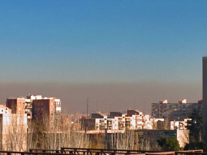 Contaminacion en Madrid desde Aluche