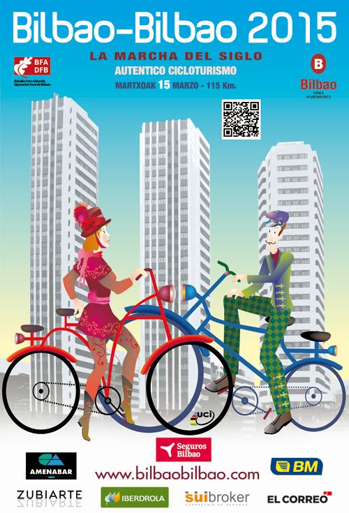Cartel del la Cicloturista Bilbao-Bilbao 2015