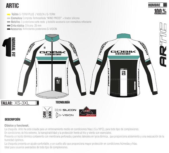 Características de la chaqueta Artic térmica