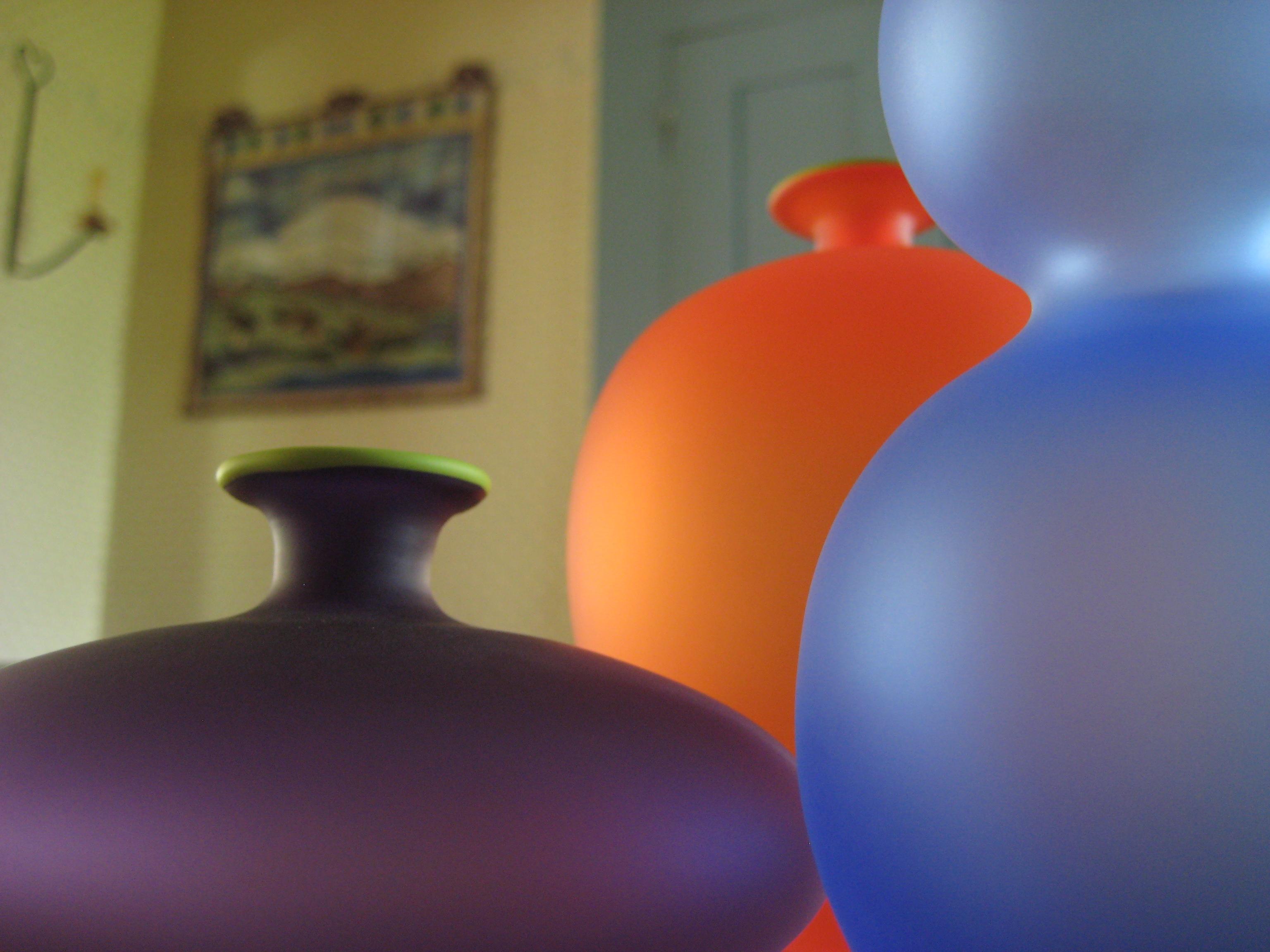 Miniature bud vases by 3rd generation American Glass Artist, Nicholas Kekic of Tsuga Studios