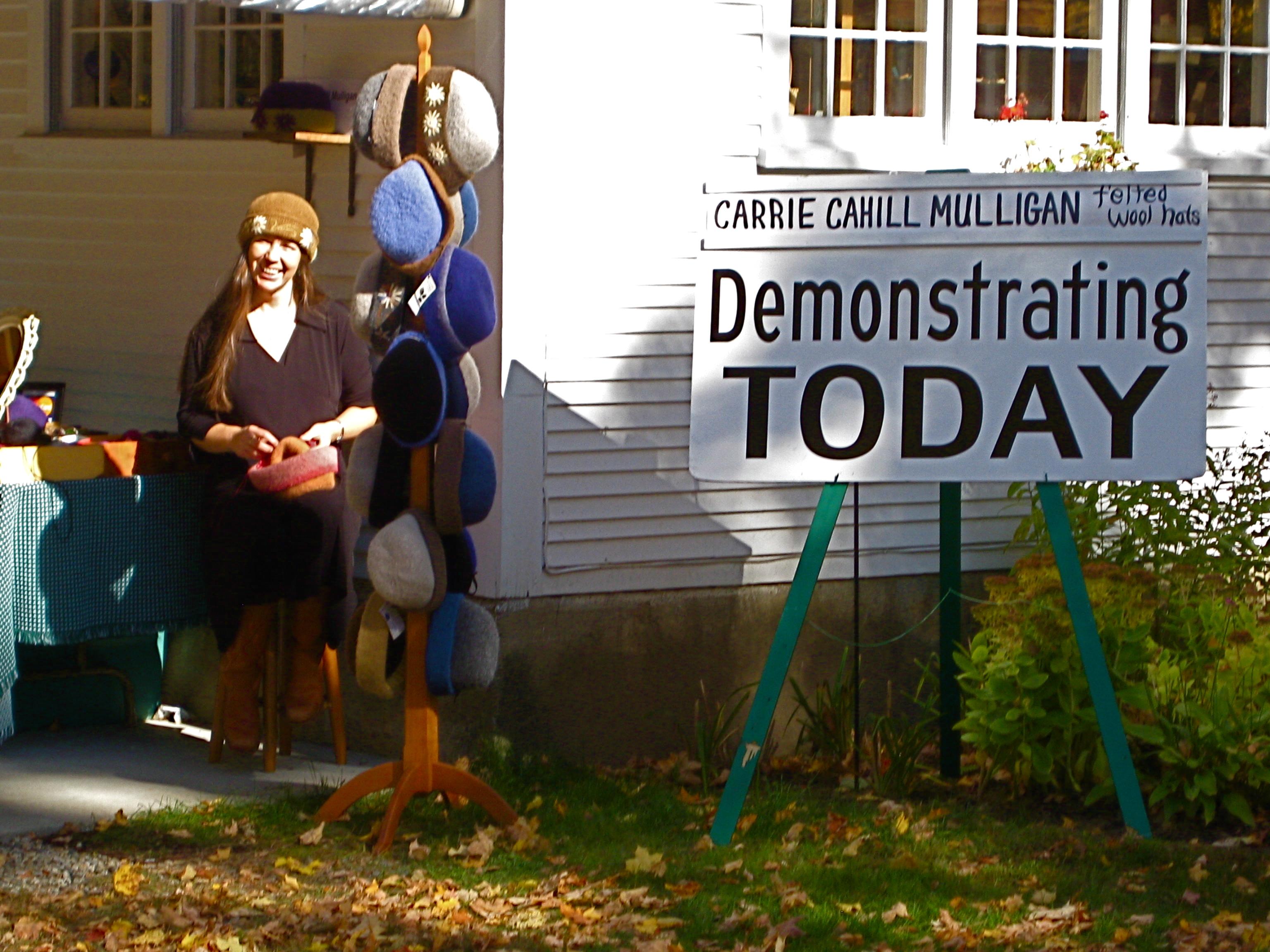 Felt Hat Demonstration at Sandwich Home Industries, October 2008.