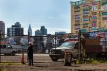 Manhattan skyline from 5Pointz ground level