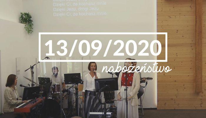 Nabożeństwo niedzielne – 13 września 2020 roku