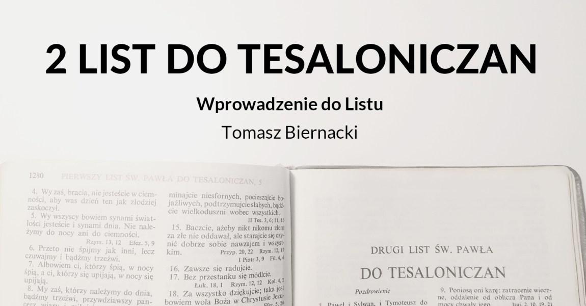 Wykład 2 Listu św. Pawła do Tesaloniczan – wprowadzenie