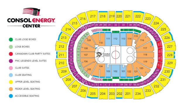 Penguins seating chart consol energy center the best penguin of 2018