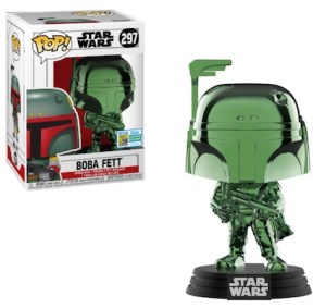 POP STAR WARS BOBA FETT Green Chrome  SDCC 2019 VF 297