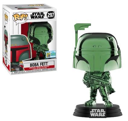 POP STAR WARS BOBA FETT Green Chrome  SDCC 2019 VF 297