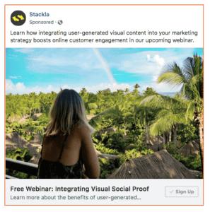 Stackla Social Ad
