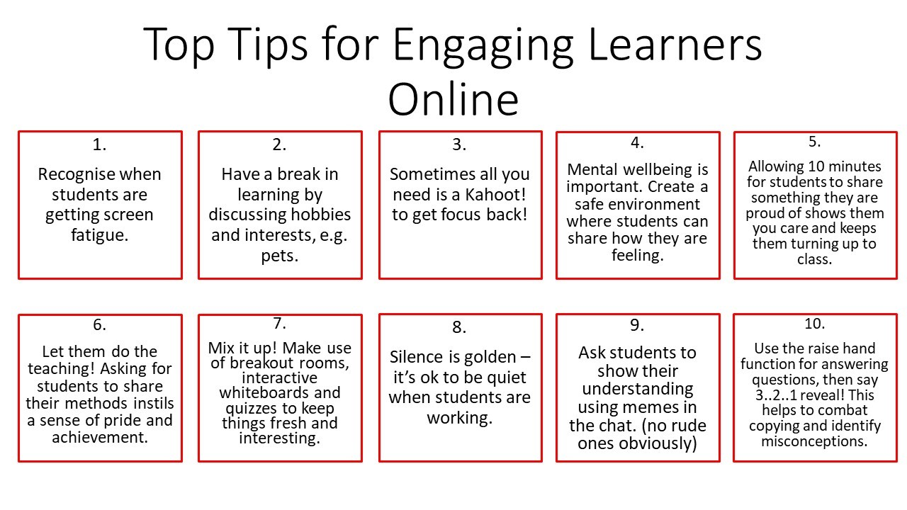 Top Tips for Engaging Learners Online