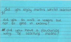 Image of student questions for parents and carers