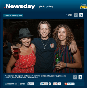 Nightlife at Mahoney's on Newsday