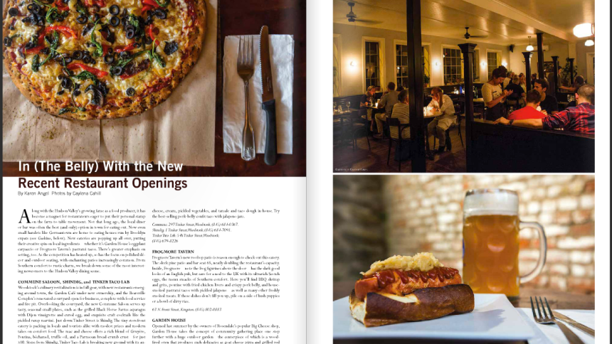 Food Photography by hudson valley photographer Caylena Cahill appeared in Chronogram in Sept. 2015