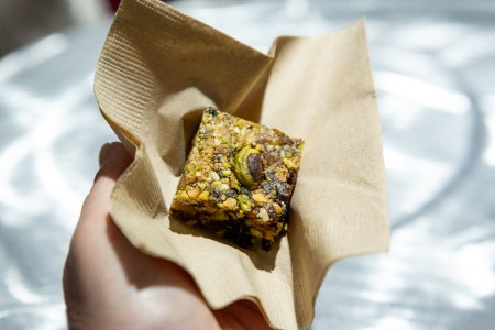 Wonderful Pistachio and Almond Orange Energy Bite at Menus of change. photo by caylena cahill