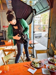 Photo Shoot Behind the Scenes with Caylena Cahill - Hudson Valley food and beverage photographer, Hudson, NY, June 2018