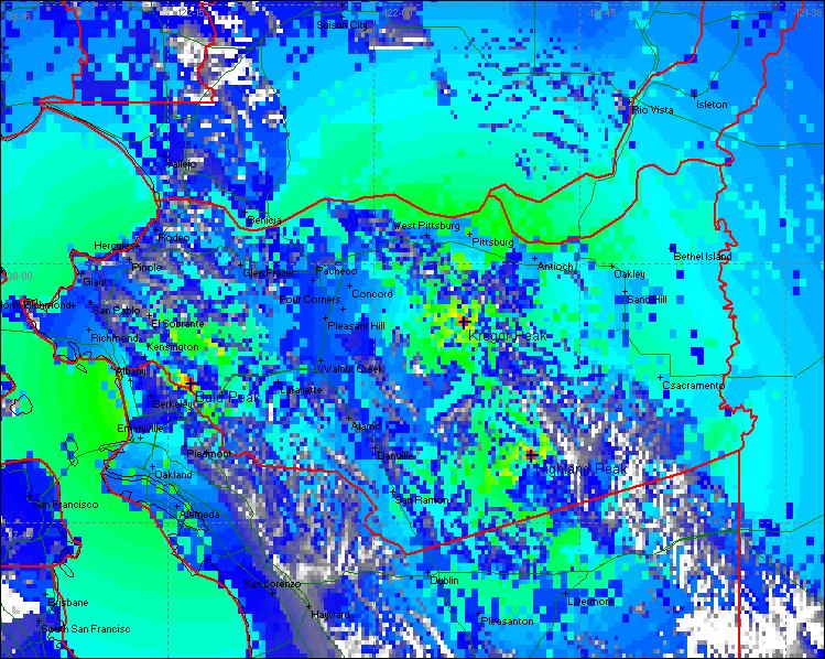CCRA 3 Site Composite Talk-In Coverage Map using a 2 Watt Portable