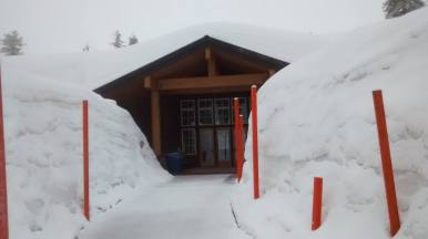 Lassen Visitor Center Entrance - Photo Courtesy John Crotty