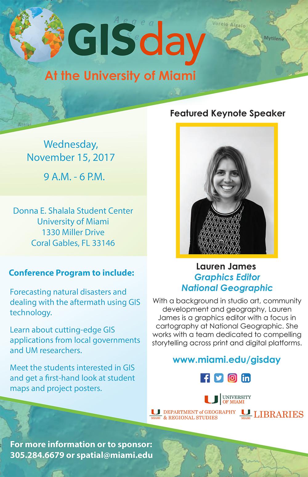 GIS Day at University of Miami 2017 flyer