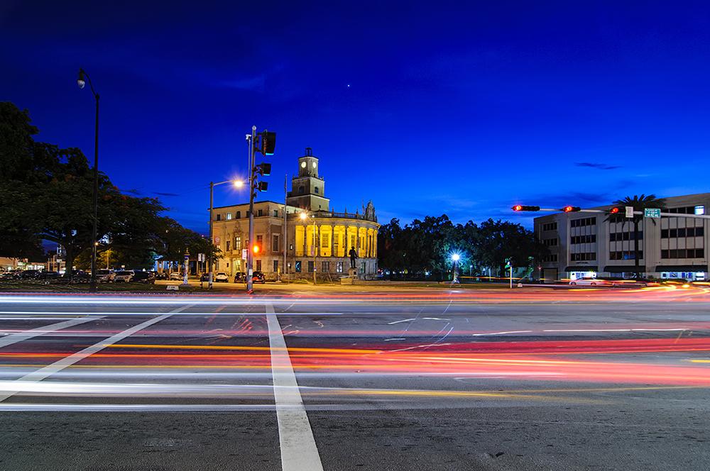 Coral Gables City Hall at night