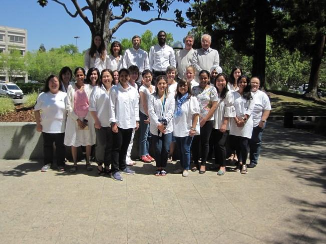CCSA California office staff wearing white