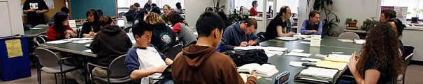 CCSF studnts studying